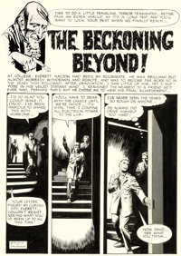 """Dan Adkins and Bill Pearson Creepy #14 Complete 8-Page Story """"The Beckoning Beyond!"""" Original Art (Warren, 196..."""