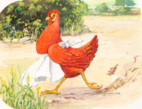 The Little Red Hen Storybook Illustrations Group of 12 plus File Copy (Samuel Lowe Company, c. 1950).... (Total: 13 Item...