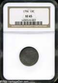 Early Dimes: , 1796 10C XF45 NGC. ...