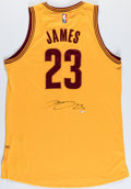 Autographs:Jerseys, LeBron James Signed Cleveland Cavaliers Jersey, Upper Deck Authenticated....
