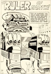 Jack Kirby and Dick Ayers Journey Into Mystery #81 Splash Page 1 Original Art (Marvel, 1962)