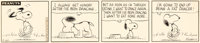 Charles Schulz Peanuts Daily Comic Strip Snoopy Original Art dated 9-20-65 (United Feature Syndicate, 1965)