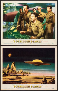 """Forbidden Planet (MGM, 1956). Fine/Very Fine. Lobby Cards (2) (11"""" X 14""""). Science Fiction. ... (Total: 2 Item..."""