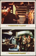 """Movie Posters:Science Fiction, Forbidden Planet (MGM, 1956). Fine/Very Fine. Lobby Cards (2) (11"""" X 14""""). Science Fiction.. ... (Total: 2 Items)"""