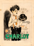 Movie Posters:Comedy, Charlot: Charlie Chaplin by Auguste Leymarie (Agence General Cinematographique. 1917). Fine+. Signed Original French Poster ...