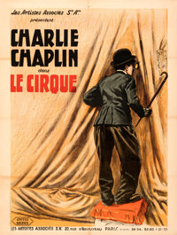 """The Circus (United Artists, 1928). Very Fine- on Linen. French Grande (47"""" X 62"""")"""