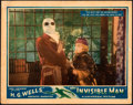 "Movie Posters:Horror, The Invisible Man (Universal, 1933). Fine+. Lobby Card (11"" X 14"").. ..."