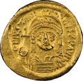Ancients:Byzantine, Justinian I the Great (AD 527-565). AV solidus (21mm, 4.46...