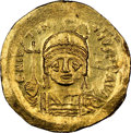 Ancients:Byzantine, Justinian I the Great (AD 527-565). AV solidus (20mm, 4.46...