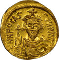 Ancients:Byzantine, Phocas (AD 602-610). AV solidus (21mm, 4.46 gm, 8h). NGC M...