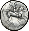 Ancients:Greek, CALABRIA. Tarentum. Ca. early 3rd century BC. AR stater or...
