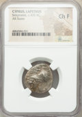 Ancients:Greek, Ancients: CYPRUS. Lapethus. Sidqmelek (ca. 435 BC). AR stater (22mm, 10h). NGC Choice Fine....