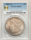 Morgan Dollars, 1885-CC $1 MS66 PCGS. PCGS Population: (1274/104 and 208/7+). NGC Census: (682/102 and 54/3+). CDN: $1,400 Whsle. Bid for p...