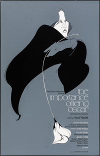 "The Importance of Being Oscar (Impeccable Arts, 1988). Rolled, Very Fine. Autographed Canadian Theater Poster (22""..."