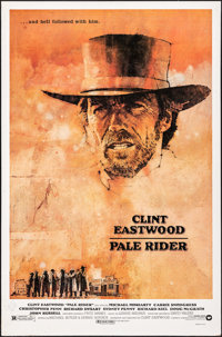 """Pale Rider (Warner Brothers, 1985). Very Good/Fine on Board. Autographed One Sheet (27"""" X 41""""). C. Michael Dud..."""