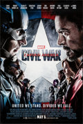 "Movie Posters:Action, Captain America: Civil War (Walt Disney Studios, 2016). Rolled, Very Fine. One Sheet (27"" X 40"") DS Advance. Action.. ..."