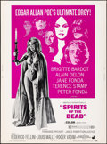 "Movie Posters:Horror, Spirits of the Dead (American International, 1969). Rolled, Very Fine-. Poster (30"" X 40""). Horror.. ..."