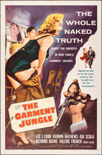 "The Garment Jungle & Other Lot (Columbia, 1957). Folded, Overall: Fine+. One Sheets (2) (27"" X 41""). D..."