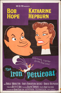 """The Iron Petticoat & Other Lot (MGM, 1956). Folded, Overall: Fine/Very Fine. One Sheets (2) (27"""" X 41""""..."""