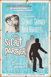 """The Secret Partner & Other Lot (MGM, 1961). Folded, Overall: Fine+. One Sheets (2) (27"""" X 41""""). Crime..."""