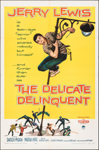 """The Delicate Delinquent & Other Lot (Paramount, 1957). Folded, Overall: Fine/Very Fine. One Sheets (3) (27""""..."""