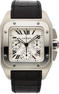 Timepieces:Wristwatch, Cartier, Santos 100XL, Automatic Chronograph, Ref. 2740, Stainless Steel. ...