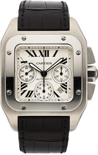 Cartier, Santos 100XL, Automatic Chronograph, Ref. 2740, Stainless Steel