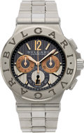 "Timepieces:Wristwatch, Bvlgari, ""Calibro 303"", Steel & Gold Chronograph. ..."