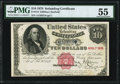 Fr. 214 $10 1879 Refunding Certificate PMG About Uncirculated 55