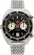 Timepieces:Wristwatch, Heuer, Autavia Ref. 1163V (Viceroy) Automatic Chronograph, Fourth Execution, Stainless Steel, Circa 1972. ...