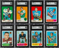 Football Cards:Sets, 1968 and 1969 Topps Football Complete Sets (2). ...
