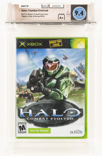 Halo: Combat Evolved [NFR Not For Resale] Wata 9.4 A+ Sealed Xbox, Microsoft, 2001, USA
