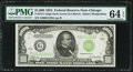 Fr. 2211-G $1,000 1934 Federal Reserve Note. PMG Choice Uncirculated 64 EPQ