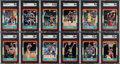 Basketball Cards:Sets, 1986 Fleer Basketball High-Grade Cards & Stickers Complete Sets (132+11). ...
