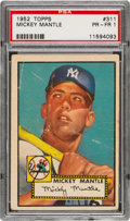 Baseball Cards:Singles (1950-1959), 1952 Topps Mickey Mantle #311 PSA Poor 1....