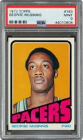 Basketball Cards:Singles (1970-1979), 1972 Topps George McGinnis #183 PSA Mint 9 - None Higher....