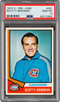 Hockey Cards:Singles (1970-Now), 1974 O-Pee-Chee Scotty Bowman #261 PSA Gem Mint 10 - Pop Two....