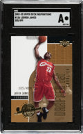 Baseball Cards:Singles (1970-Now), 2002-03 Upper Deck Inspirations LeBron James #156 SGC Authentic - Numbered 305/499....