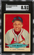 Baseball Cards:Singles (1950-1959), 1954 Red Heart Stan Musial SGC NM-MT+ 8.5. ...