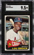 Baseball Cards:Singles (1960-1969), 1965 Topps Lou Brock #540 SGC Mint+ 9.5 - Pop One, None Higher. ...
