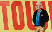 John Battenberg (b. 1931) Untitled (Russ Solomon over Tower Records Sign) Acrylic on canvas 36 x 60 inches (91.4 x 15