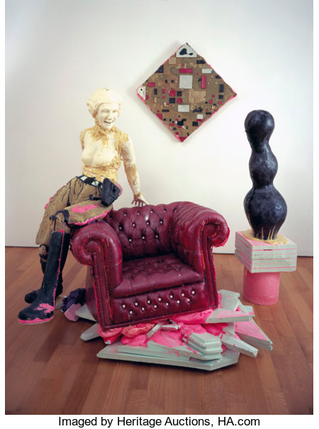 Folkert de Jong (b. 1972)Golden Smiles-First Lady, Arp, and Last Boogie Woogie (installation in 3 parts), 2007BASF S...