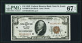 Fr. 1860-H $10 1929 Federal Reserve Bank Note. PMG Superb Gem Unc 67 EPQ