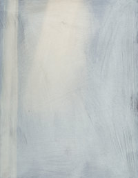 Ross Bleckner (b. 1949) Untitled, 1987 Watercolor on paper 16 x 12 inches (40.6 x 30.5 cm) Signed and dated verso: