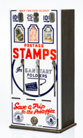 Sculpture, Robert Watts (1923-1988). Stamp Machine and Stamps, from The American Supermarket, 1964. Re-purposed US Postage Stam...