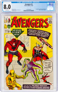 Silver Age (1956-1969):Superhero, The Avengers #2 (Marvel, 1963) CGC VF 8.0 White pages....