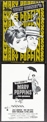 Mary Poppins & Other Lot (Buena Vista, R-1973/R-1980). Very Fine-. Uncut Pressbooks (11) with Ad Supplements (Multip...