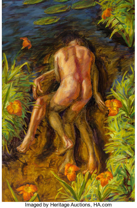 Hugh Auchincloss Steers (1963-1995)Tiger Lily Pond, 1991Oil on canvas60-1/2 x 37 inches (153.7 x 94.0 cm)Signed,...