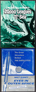 """Movie Posters:Science Fiction, 20,000 Leagues Under the Sea (Buena Vista, R-1971). Overall: Very Fine-. Uncut Pressbooks (7) (Multiple Pages, 10.5"""" X 13.5""""... (Total: 8 Items)"""