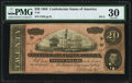 Confederate Notes:1864 Issues, T67 $20 1864 PF-2 Cr. 504A PMG Very Fine 30.. ...